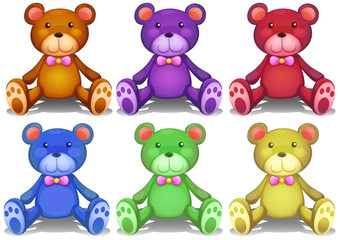Colorful teddy bears
