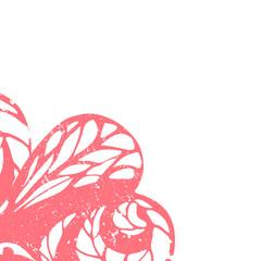 Delicate floral frame