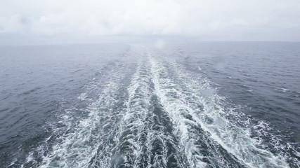 Follow ferry in rain
