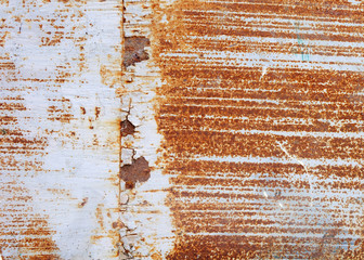 rusty on steel wall background