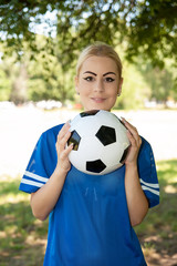 attractive female soccer player