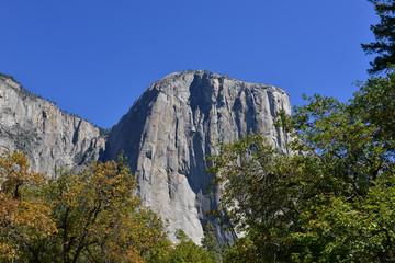 El Capitan is a vertical rock in Yosemite National Park