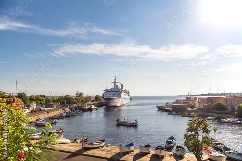 Passenger ship in the port of Nessebar