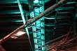 canvas print picture - Brückenkonstruktion im Tunnel