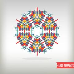 Kaleidoscopic logo element for design.