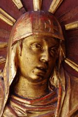 saint women portrait sculpture