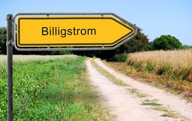 Strassenschild 21b - Billigstrom