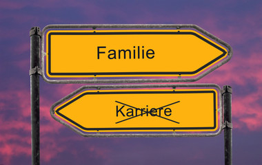 Strassenschild 22 - Familie
