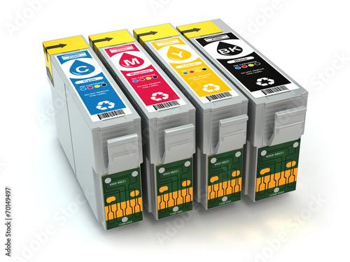 Cartridges for colour inkjet printer. CMYK. - 70149497