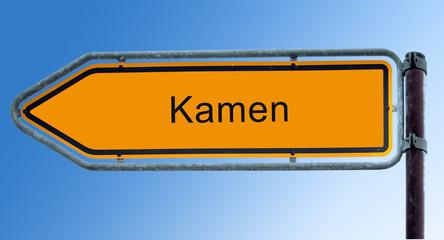 Strassenschild 7 - Kamen