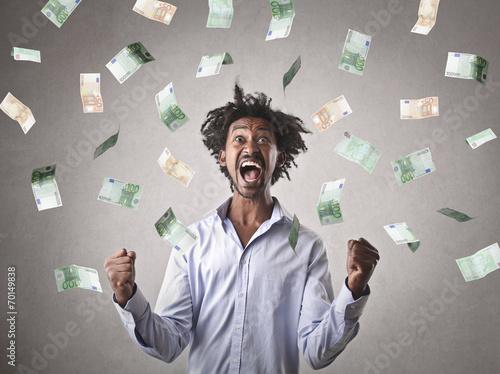 canvas print picture Successful businessman jubilating