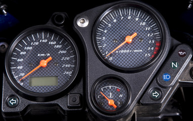 Motorcycle dashboard.