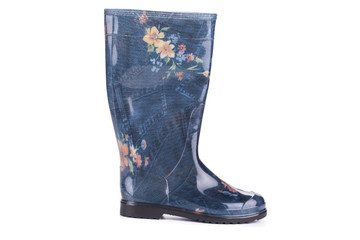 Stylish printed wellington boots.