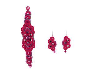 Beautiful handmade bracelet and earrings.