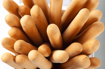 Breadsticks close-up