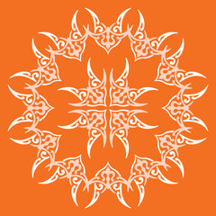 Ornamental pattern, vector design