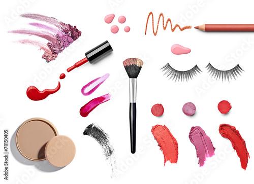 canvas print picture make up beauty lipstick nail polish liquid powder mascara pencil