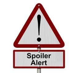 Spoiler Alert Caution Sign