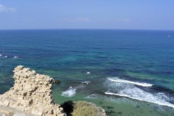 Apollonia beach near Tel Aviv.