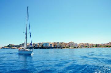 sailboat corfu greece