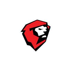 Fierce lion sport mascot sign