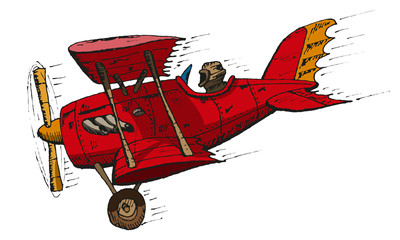 biplane cartoon