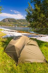Wild outdoor camp