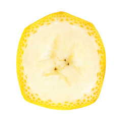 Fresh slice of banana