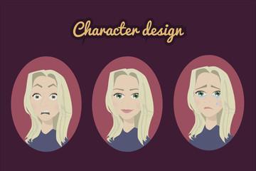 Character design fun girl