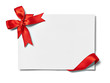 Leinwandbild Motiv ribbon bow card note chirstmas celebration greeting