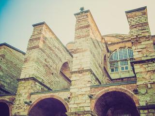 Retro look Hagia Sophia in Istanbul