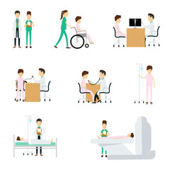 Hospital medical character  on white background
