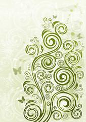 Abstract vintage floral grunge illustration
