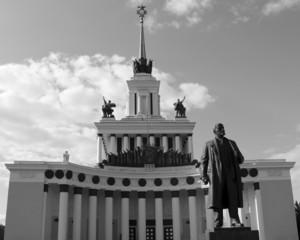 Statue of Lenin - Communist leader of the Soviet people.
