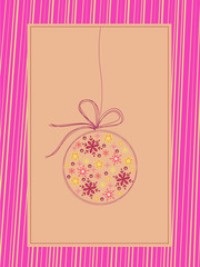 pink christmas illustration