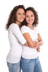 Liebe unter Schwestern: reale Zwillinge freigestellt