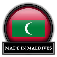 Made in button - Maldives