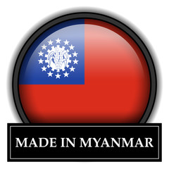 Made in button - Myanmar