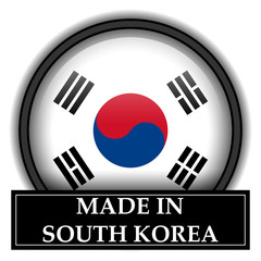 Made in button - South Korea