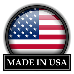 Made in button - USA