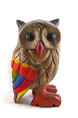 Colorful wooden owl