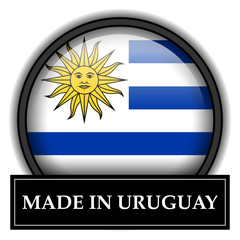 Made in button - Uruguay