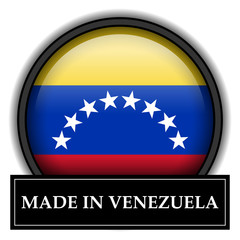 Made in button - Venezuela