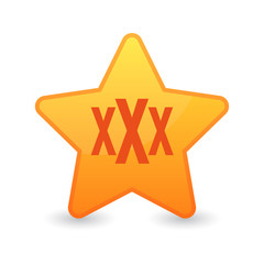 star with a triple x sign