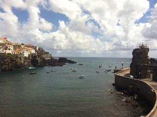 fishing bay in Madeira island