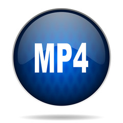 mp4 internet blue icon