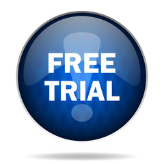 free trial internet blue icon