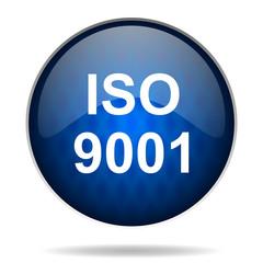 iso 9001 internet blue icon