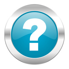 question mark internet blue icon