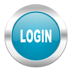login internet blue icon